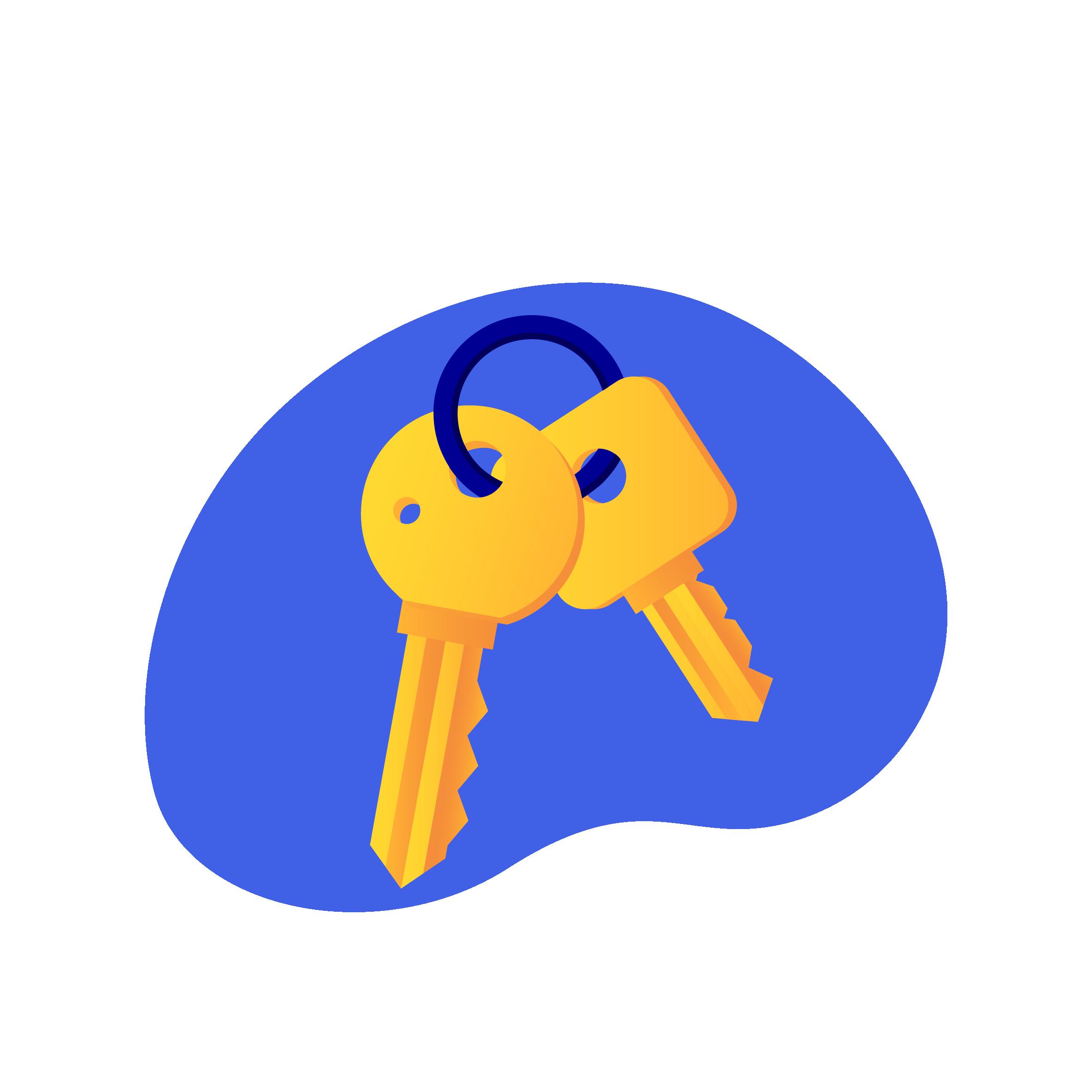 ikon som viser to nøkler
