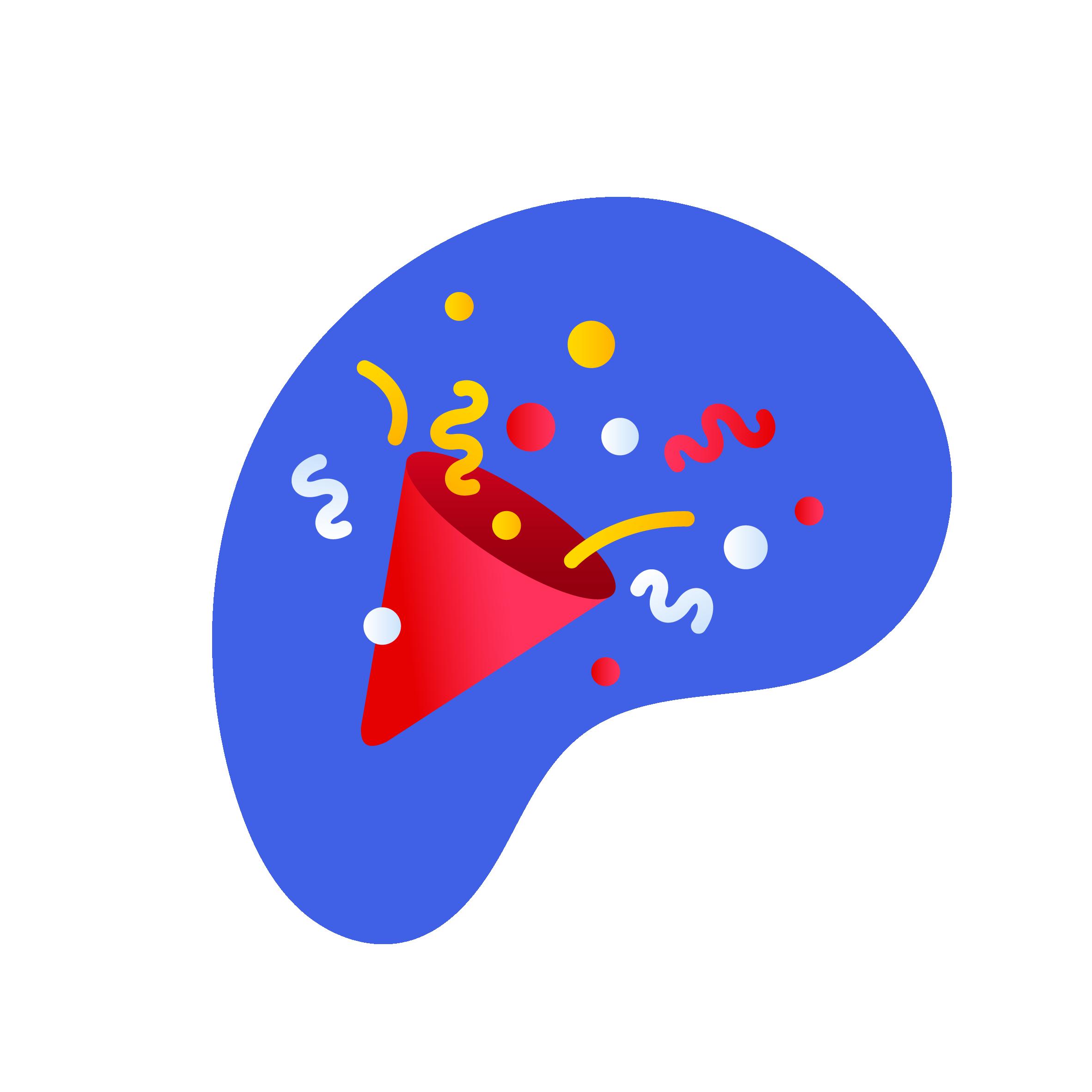 ikon som viser festlig stemning